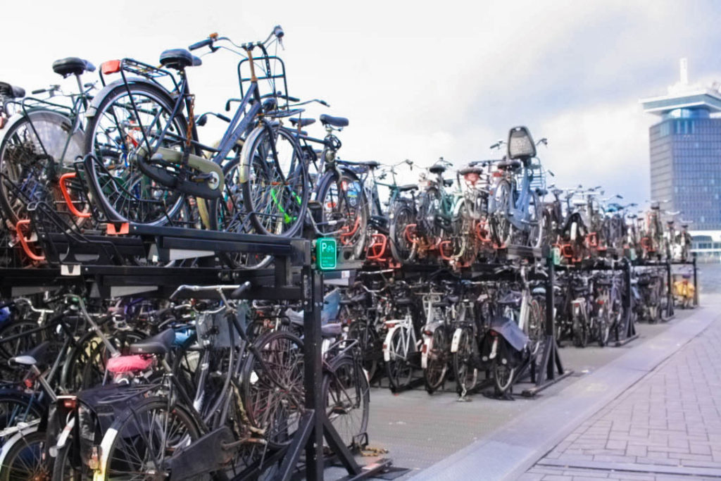 Europe's biking capitals - Amsterdam - Central station giant bike park